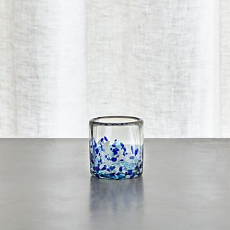 Rue Blue Tealight Candle Holder