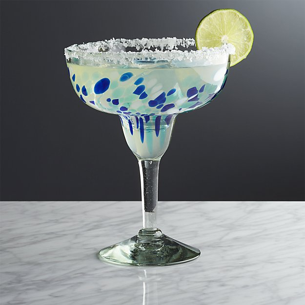 Rue Blue Margarita Glass