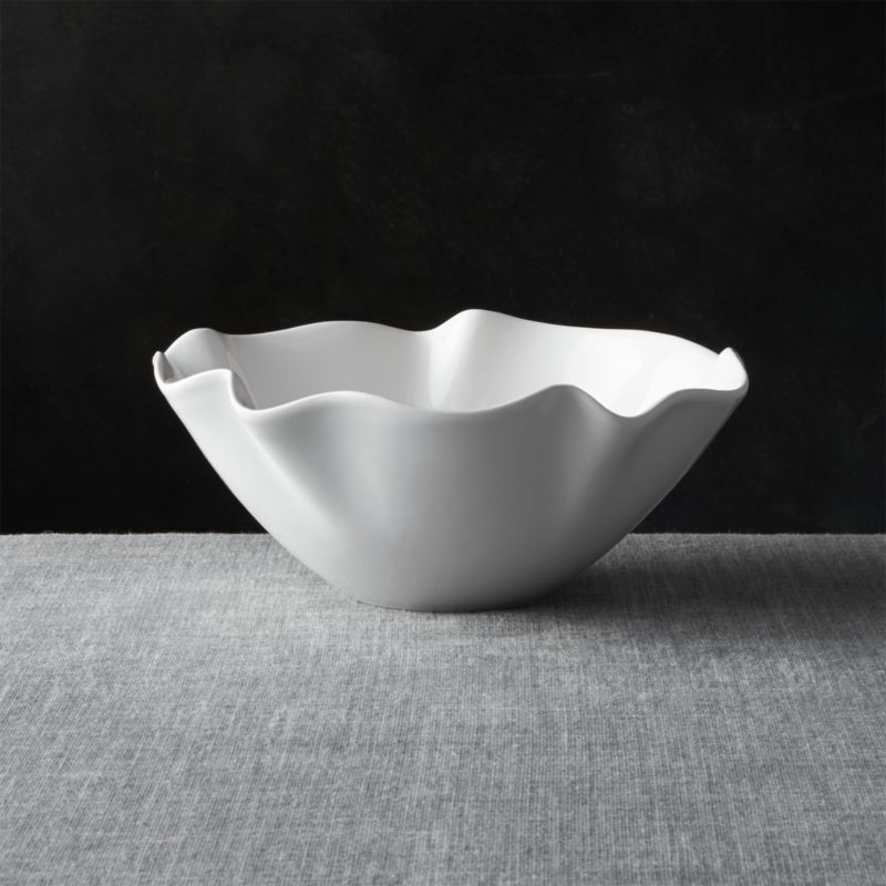 White Ruffle 11 Quot Small Bowl Crate And Barrel