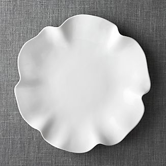 "White Ruffle 16"" Platter"
