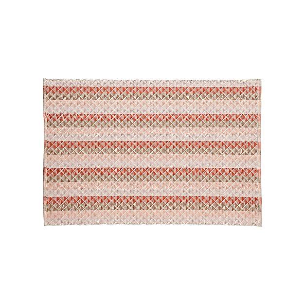 Pyramid Reversible Pink Rug