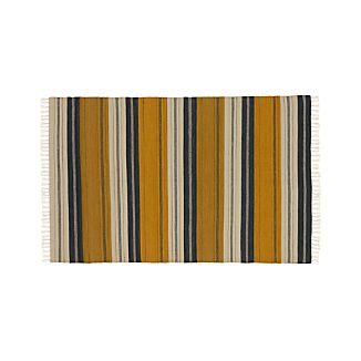 Russell Striped Wool 9'x12' Rug