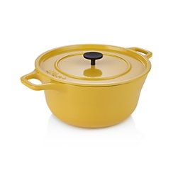 Crate and Barrel Cast Iron 4.5 qt. Hollandaise Dutch Oven by Russell Pinch
