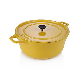 Crate and Barrel Cast Iron 6.5 qt. Hollandaise Dutch Oven by Russell Pinch