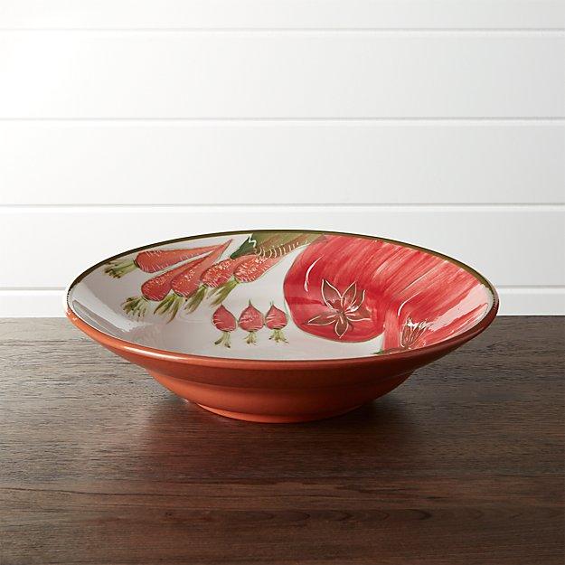 Rustic Garden Serve Bowl
