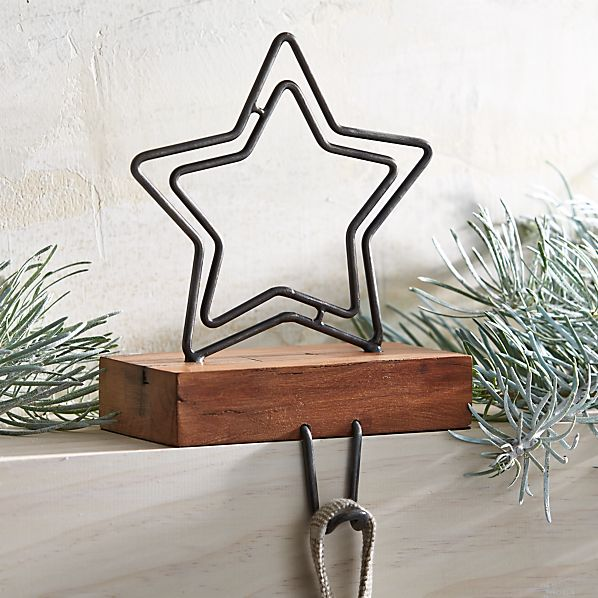 Rustic Star Christmas Stocking Hook