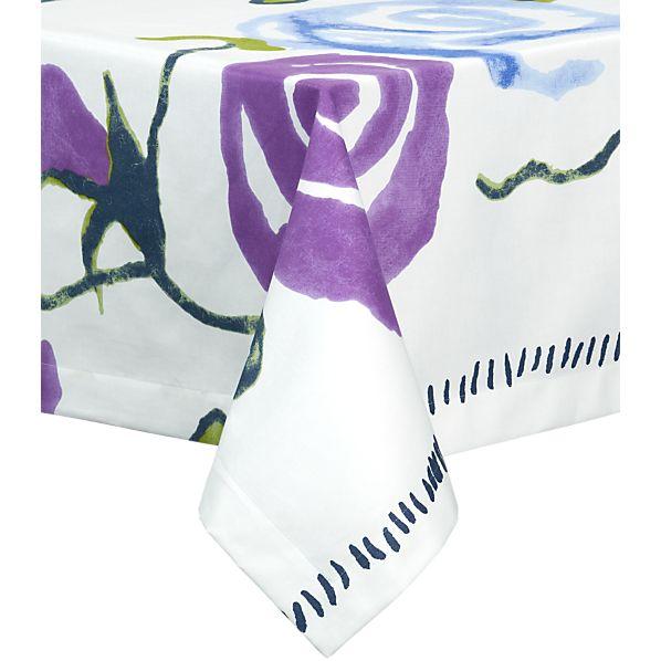"Marimekko Ruusu 70"" Square Tablecloth"