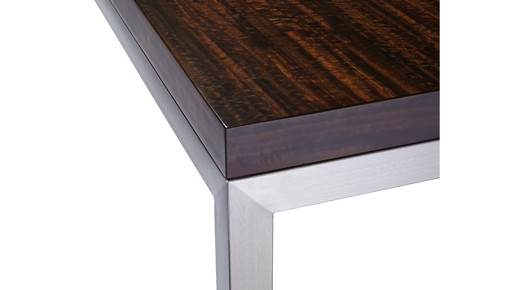 Myrtle Top/ Stainless Steel Base 72x42 Parsons Dining Table
