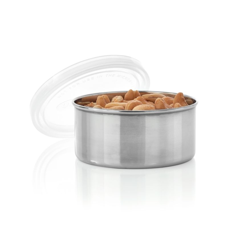 Leak-proof, utilitarian container is a prep-worthy and portable option for food storage of all kinds. Non-toxic construction with airtight plastic lid and stainless-steel base that won't retain odors and flavors.<br /><br /><NEWTAG/><ul><li>Stainless-steel container</li><li>Leak-proof plastic lid</li><li>8 oz. capacity</li><li>Lead- and phthalates-free</li><li>PVC- and BPA-free</li><li>Container is dishwasher-safe</li><li>Lid is top-rack dishwasher-safe</li><li>Made in China</li></ul>