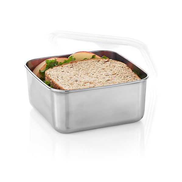 U Konserve ® Large Square Stainless-Steel Container with Clear Lid