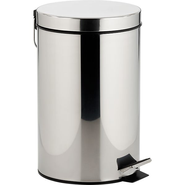 Stainless Steel 3.2-Gallon Step Can