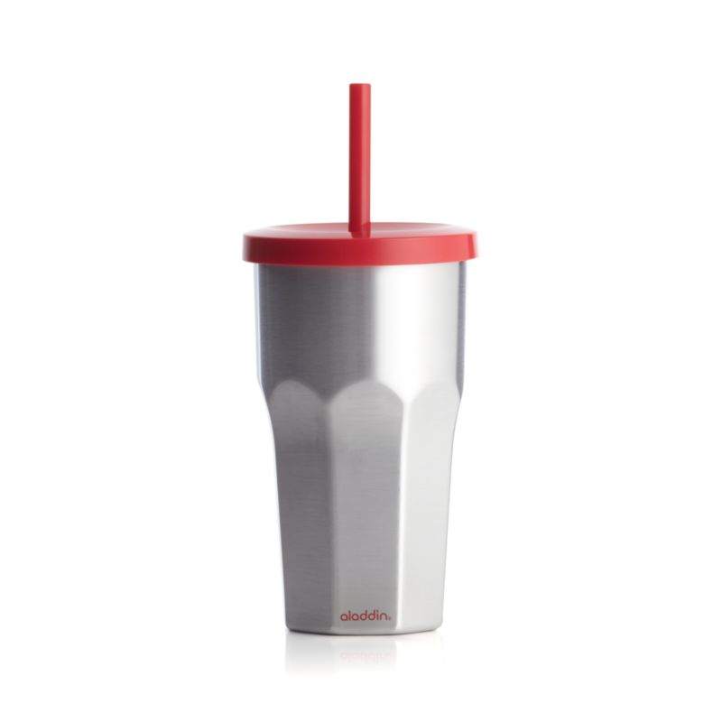 Stainless Steel To-Go Tumbler with Red Lid
