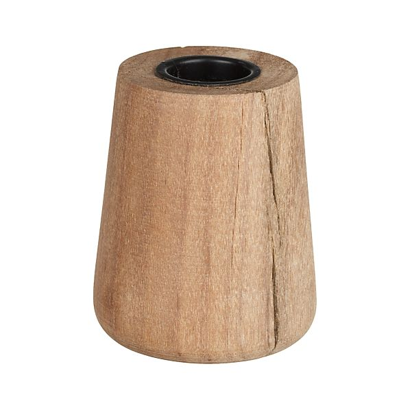 Saal Wood Taper Candle Holder