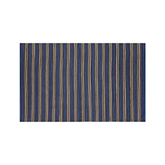 Sachi Blue Stripe Indoor/Outdoor 5'x8' Rug