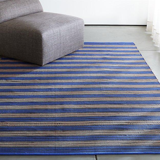 Sachi Blue Stripe Indoor/Outdoor Rug