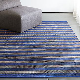 Sachi Blue Stripe Indoor/Outdoor Rug