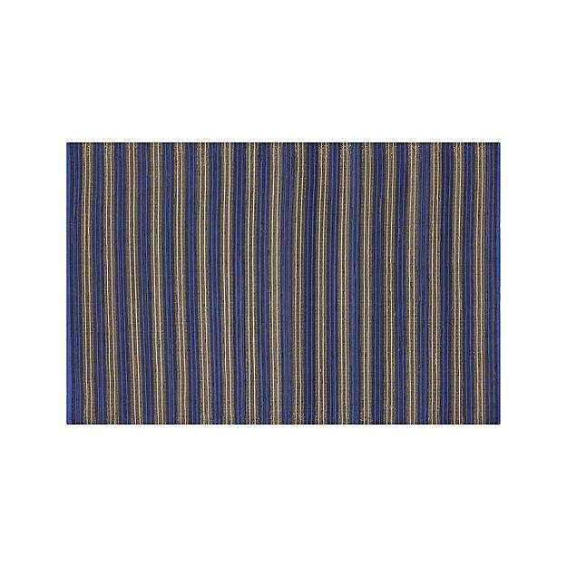 Sachi Blue Stripe Indoor/Outdoor 6'x9' Rug