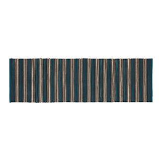 Sachi Teal Stripe Indoor/Outdoor 2.5'x8' Rug Runner