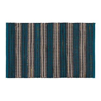 Sachi Teal Stripe Indoor/Outdoor 2'x3' Rug