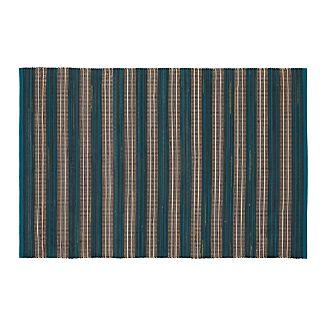 Sachi Teal Stripe Indoor/Outdoor 4'x6' Rug