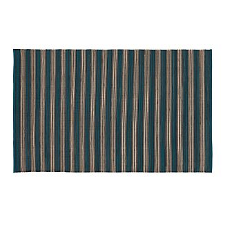 Sachi Teal Stripe Indoor/Outdoor 5'x8' Rug