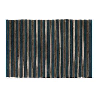 Sachi Teal Stripe Indoor/Outdoor 6'x9' Rug