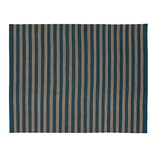 Sachi Teal Stripe Indoor/Outdoor 8'x10' Rug