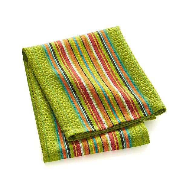 Salsa Dos Green Dish Towel
