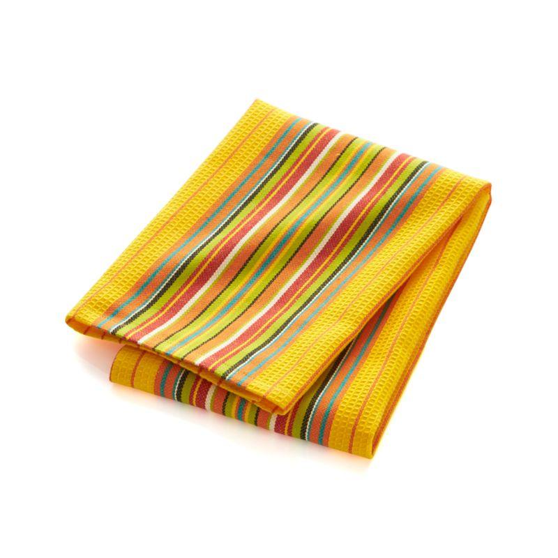Salsa Dos Yellow Dish Towel