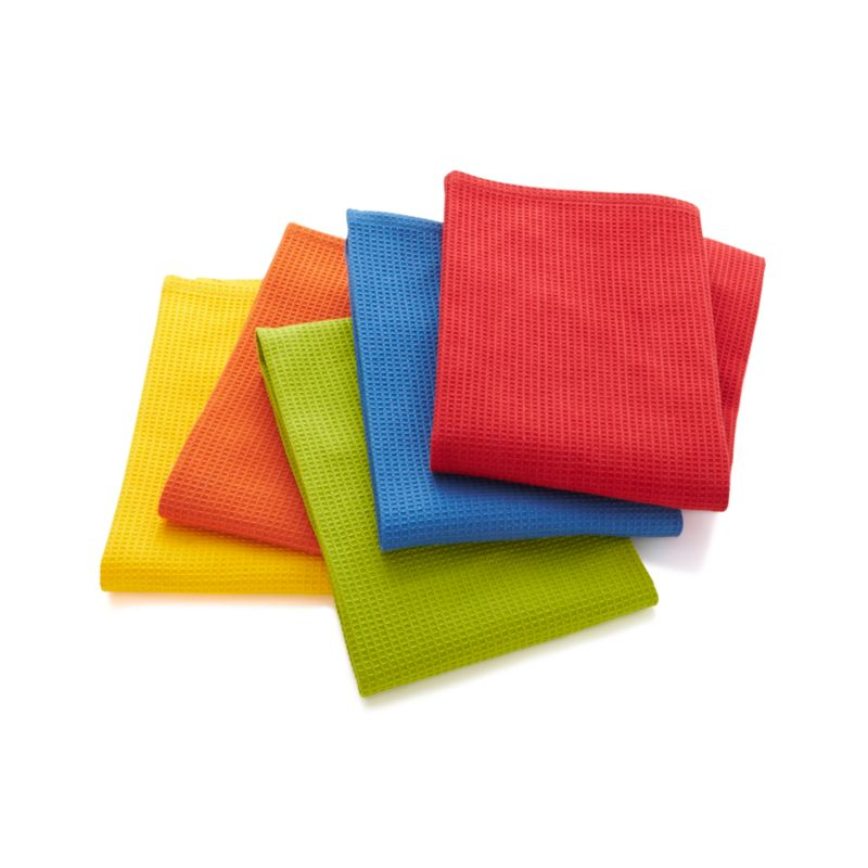 Set of 5 Salsa Solid Dish Towels