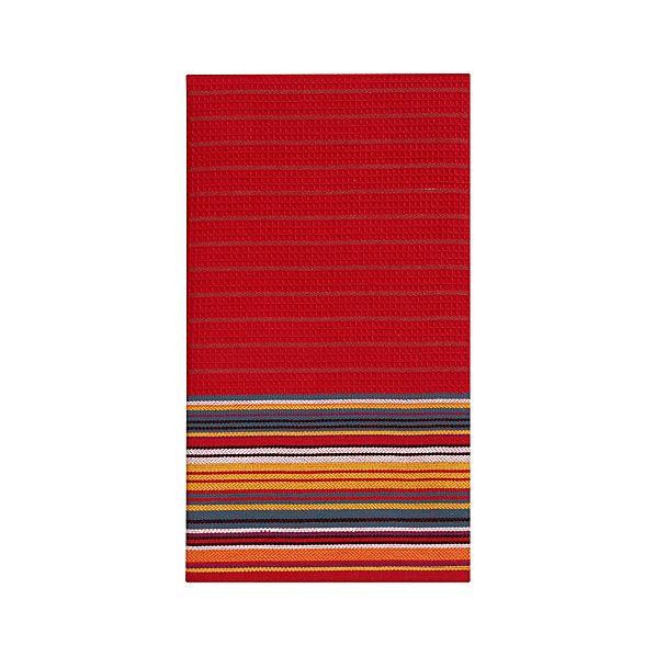 Salsa Stripe Red Dishtowel