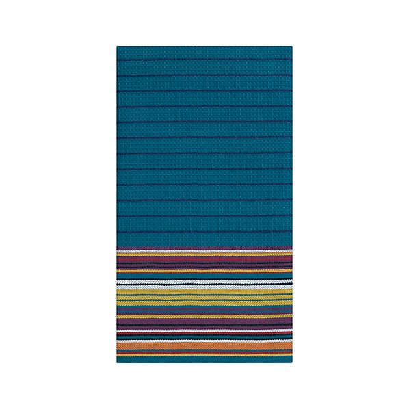 Salsa Stripe Teal Dishtowel