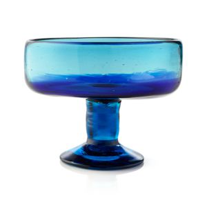 Salud Azul Footed Dessert Bowl