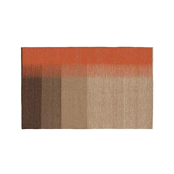 Sanderson Wool Dhurrie 5'x8' Rug