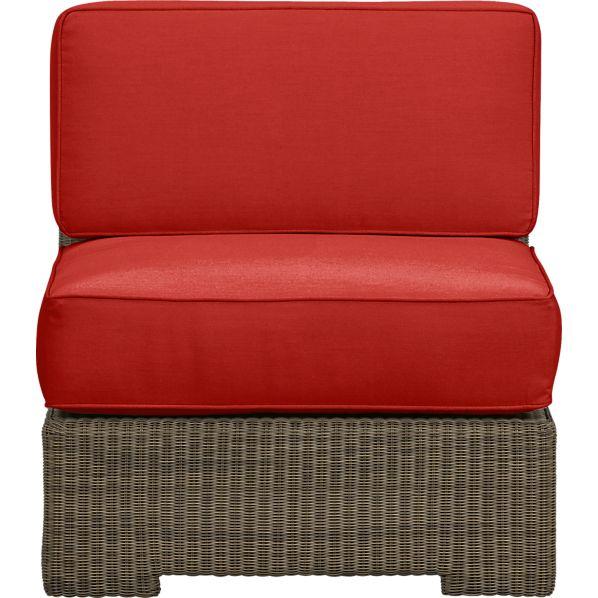 Sanibel Modular Armless Chair with Sunbrella ® Caliente Cushions