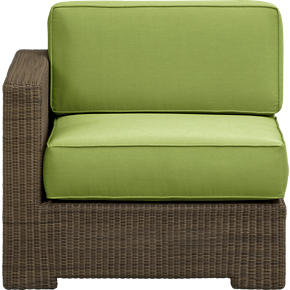 Sanibel Modular Left Arm Chair with Sunbrella® Kiwi Cushions