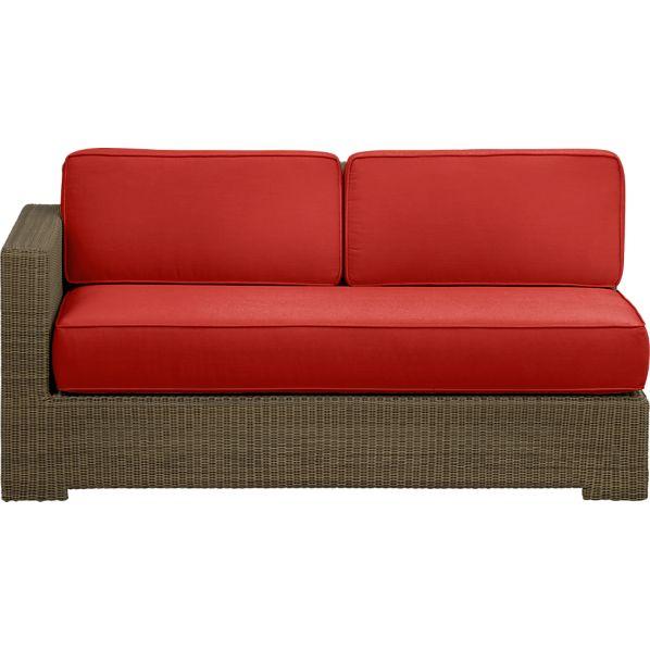 Sanibel Modular Left Arm Loveseat with Sunbrella ® Caliente Cushions