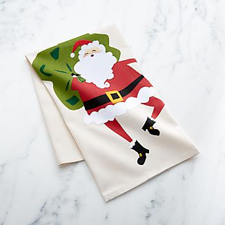 Santa Dish Towel