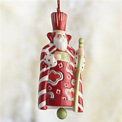 Santa King Bell Ornament