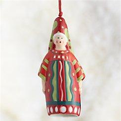 Santa Queen Bell Ornament
