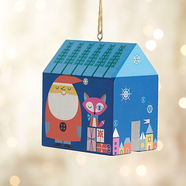 Santa's Village House Ornament
