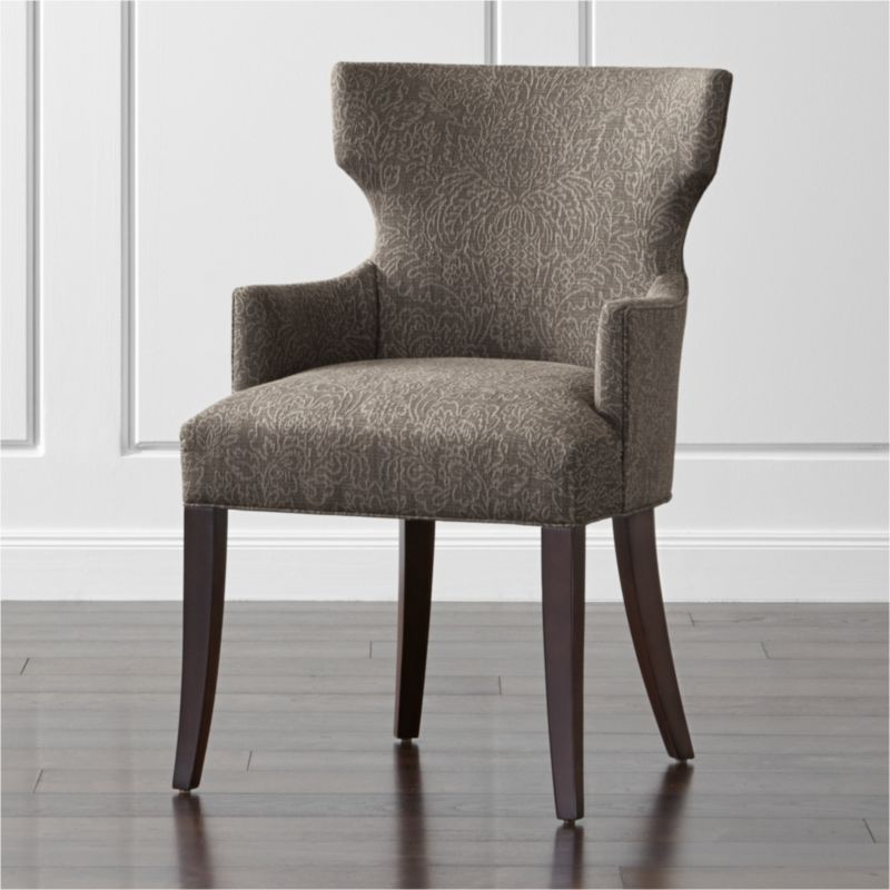 Sasha Upholstered Dining Arm Chair Magnolia: Fog