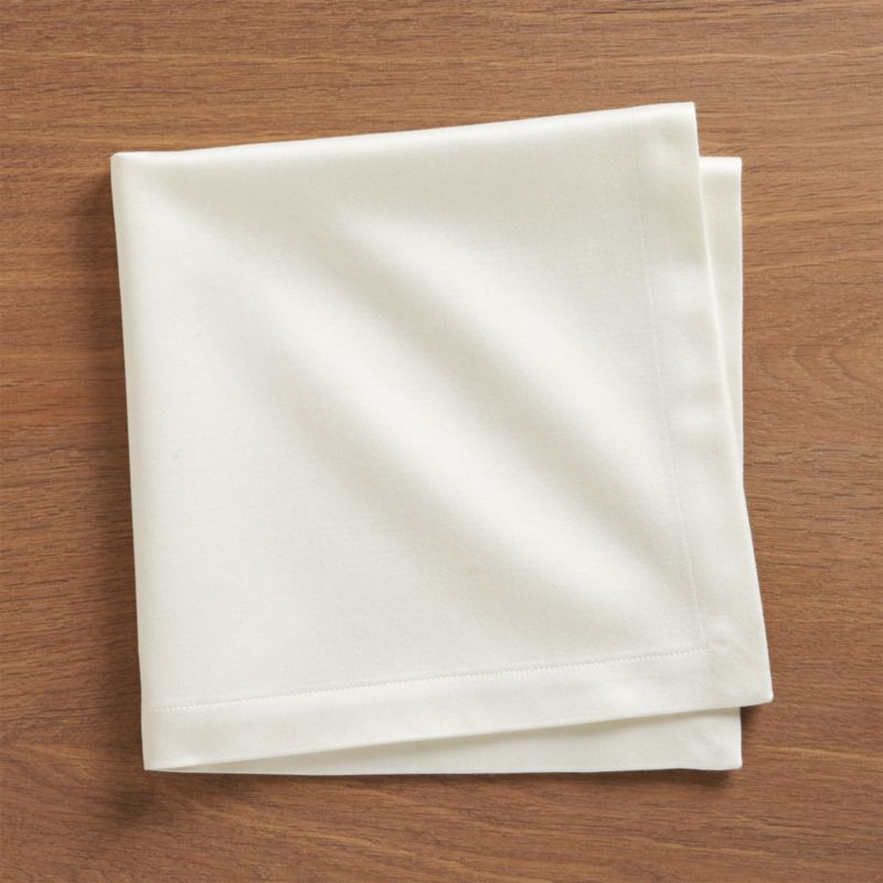 Sateen Ecru Cloth Dinner Napkin Crate And Barrel