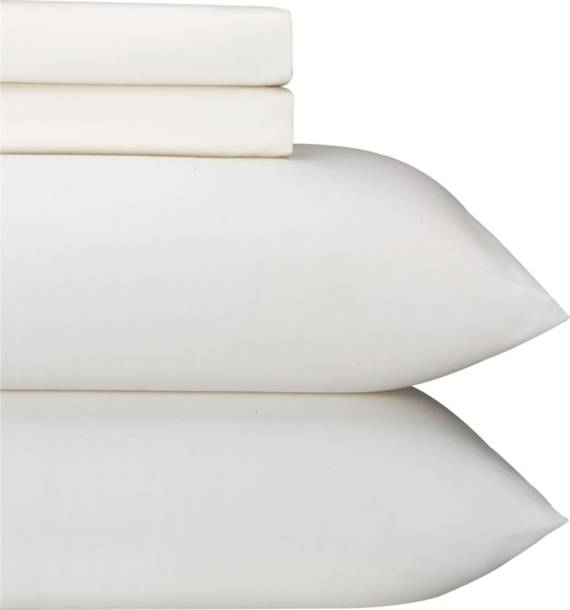 "Classic cotton sateen bedding in 230-thread-count combed cotton combines silky softness and a beautiful sheen with durability, quality and value. Detail work includes deep 4"" hems and generous fitted sheet pockets for today's thicker mattresses. Bed pillows also available.<br /><br /><NEWTAG/><ul><li>100% cotton sateen</li><li>230-thread-count</li><li>Machine wash</li><li>Made in China</li></ul><br />"