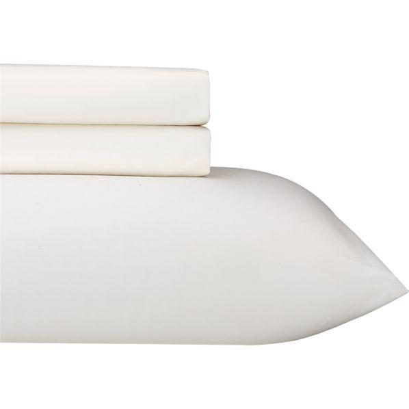 Sateen Ivory Twin Extra Long Sheet Set