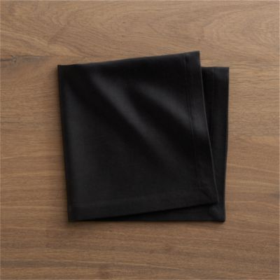Sateen Black Napkin