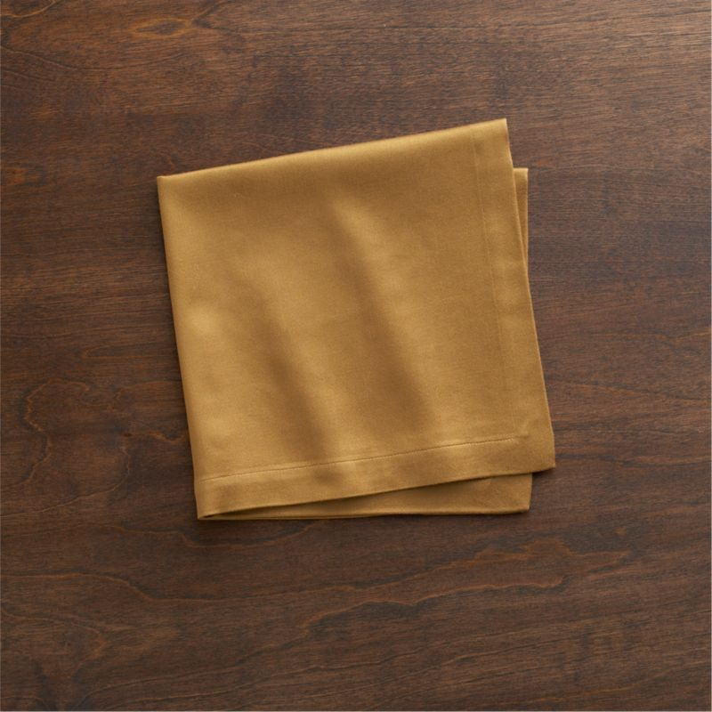 """Rayon/cotton blend sateen napkin complements casual and formal dining in versatile solids. Napkin is tailor finished with 1"""" hem.<br /><br /><NEWTAG/><ul><li>57% rayon and 43% cotton</li><li>Machine wash; tumble dry, warm iron as needed</li><li>Made in India</li></ul>"""