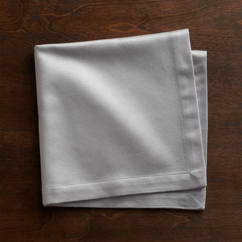 Sateen Silver Cloth Dinner Napkin Crate And Barrel
