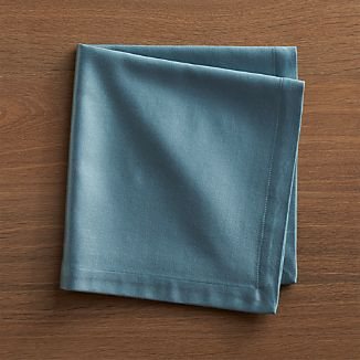 Sateen Smoke Blue Cloth Dinner Napkin