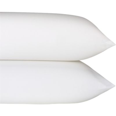 Set of 2 Sateen White King Pillowcases